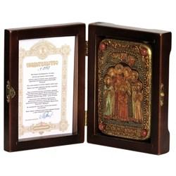 Святые царственные страстотерпцы икона ручной работы под старину - фото 6014