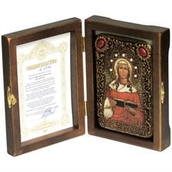 Валентина Кесарийская икона ручной работы под старину - фото 6050