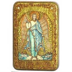 Ангел Хранитель икона на мореном дубе - фото 6248