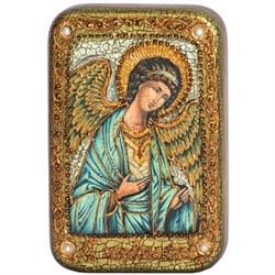 Ангел Хранитель икона на мореном дубе - фото 6266
