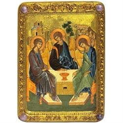 Троица, живописная икона в авторском стиле  - фото 6315
