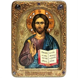 Господь Вседержитель, живописная икона в авторском стиле - фото 6371