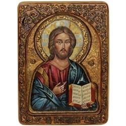 Господь Вседержитель, живописная икона в авторском стиле - фото 6373