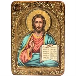 Господь Вседержитель, живописная икона в авторском стиле - фото 6377