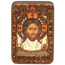 Спас Нерукотворный, икона в авторском стиле на мореном дубе - фото 6410