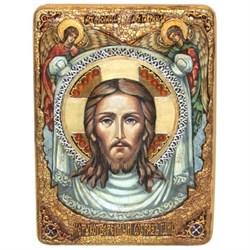 Спас Нерукотворный, живописная икона в авторском стиле - фото 6420