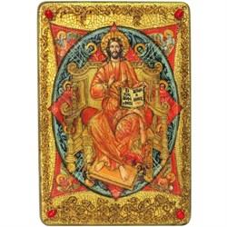 Спас в Силах, икона в авторском стиле на мореном дубе (большая) - фото 6432