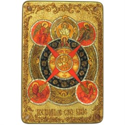 Всевидящее Око Божие, икона в авторском стиле на мореном дубе (большая) - фото 6454