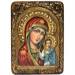 Казанская икона Божьей Матери, живописная в авторском стиле - фото 6598