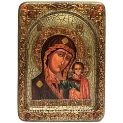 Казанская икона Божьей Матери, живописная в авторском стиле - фото 6600