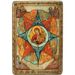 Неопалимая купина икона в авторском стиле на доске из мореного дуба (Большая) - фото 6613