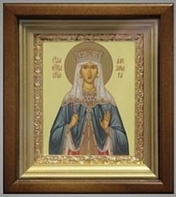 Александра Римская икона в киоте 16х19 см - фото 6751