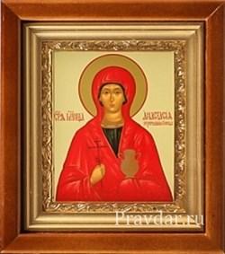 Анастасия Узорешительница икона в киоте 16х19 см - фото 6755