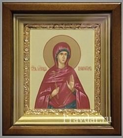 Валентина Святая мученица, икона в киоте 16х19 см - фото 6766