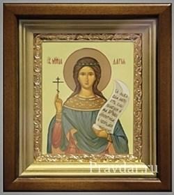 Дария Святая мученица, икона в киоте 16х19 см - фото 6780