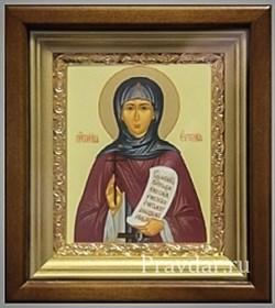 Евгения Святая мученица, икона в киоте 16х19 см - фото 6782