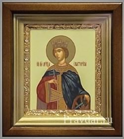 Екатерина Святая великомученица, икона в киоте 16х19 см - фото 6784
