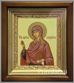 Мария Магдалина, икона в киоте 16х19 см - фото 6808