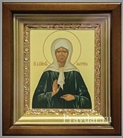 Матрона Московская, икона в киоте 16х19 см - фото 6810