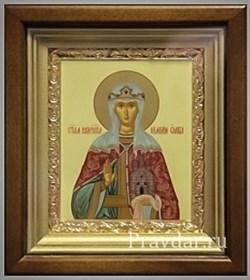 Ольга Святая равноапостольная, икона в киоте 16х19 см - фото 6818