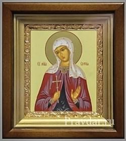 Софья Святая мученица, икона в киоте 16х19 см - фото 6822