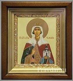 Тамара Святая царица, икона в киоте 16х19 см - фото 6824