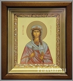 Татьяна Святая мученица, икона в киоте 16х19 см - фото 6826