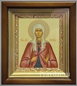 Фотиния (Светлана) Преподобная, икона в киоте 16х19 см - фото 6828