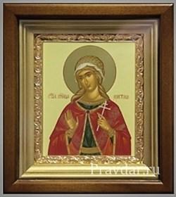 Христина Святая мученица, икона в киоте 16х19 см - фото 6830
