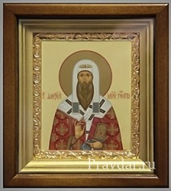 Алексий Московский митрополит, икона в киоте 16х19 см - фото 6850