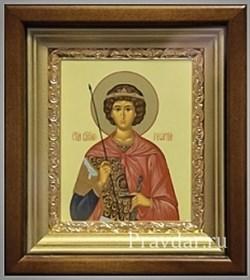 Георгий Победоносец, икона в киоте 16х19 см - фото 6864