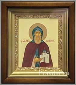 Даниил Московский, икона в киоте 16х19 см - фото 6866