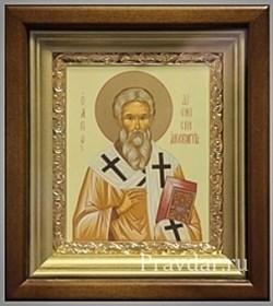 Дионисий Ареопагит, икона в киоте 16х19 см - фото 6868