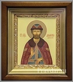 Дмитрий Донской, икона в киоте 16х19 см - фото 6870