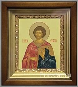 Евгений Святой мученик, икона в киоте 16х19 см - фото 6874