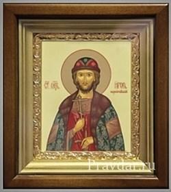 Игорь Благоверный князь, икона в киоте 16х19 см - фото 6876