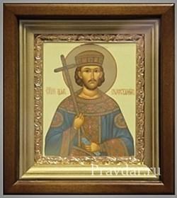 Константин Великий, икона в киоте 16х19 см - фото 6886
