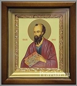 Павел Апостол, икона в киоте 16х19 см - фото 6896