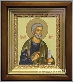 Петр Апостол, икона в киоте 16х19 см - фото 6898
