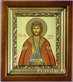 Роман Рязанский, икона в киоте 16х19 см - фото 6900
