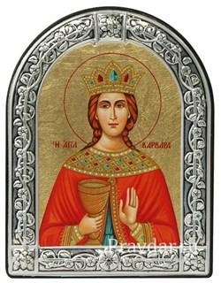 Варвара Святая мученица, икона с серебряной рамкой - фото 6922