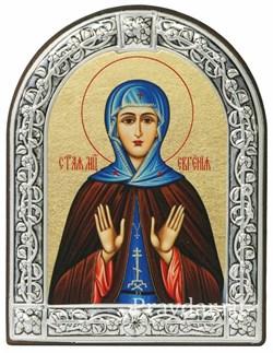 Евгения Святая мученица, икона с серебряной рамкой - фото 6936