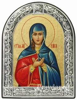 Раиса Святая мученица, икона с серебряной рамкой - фото 6956