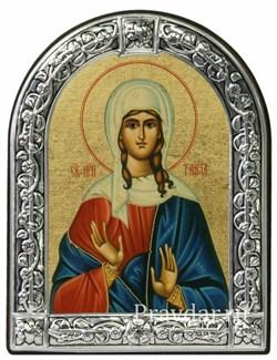 Таисия Святая мученица, икона с серебряной рамкой - фото 6960