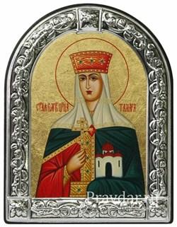 Тамара Святая царица, икона с серебряной рамкой - фото 6962