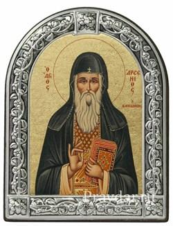 Арсений Преподобный, икона с серебряной рамкой - фото 6974