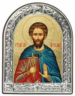 Артемий Святой мученик, икона с серебряной рамкой - фото 6976