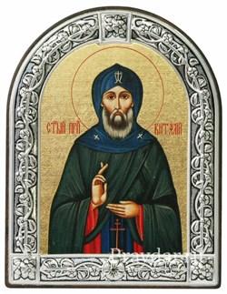 Виталий Святой преподобный, икона с серебряной рамкой - фото 6986