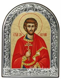 Евгений Святой мученик, икона с серебряной рамкой - фото 6995