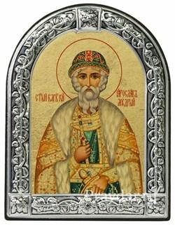 Ярослав Мудрый Святой князь, икона с серебряной рамкой - фото 7025